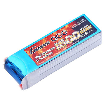 Gens Ace 1600Mah 14.8V 40C 4S1P LiPo Battery Pack picture