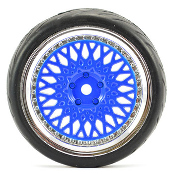Fastrax 1/10 Street/Tread Tyre Classic Blue/Chrome Wheel picture