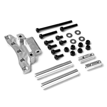 Gmade Front Upper Link Mount (Silver) For Gs01 Axle picture