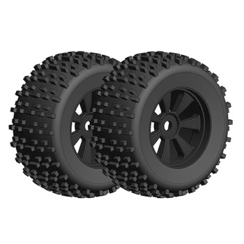 Corally Offroad 1/8 Monster Tr Uck Tires Gripper Glued On Bla picture