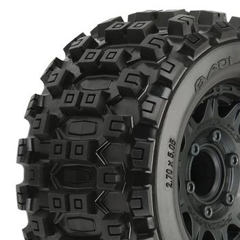 "Proline Badlands Mx28 2.8"" All Ter. Tyres Blk Raid Wheel 6x30 picture"