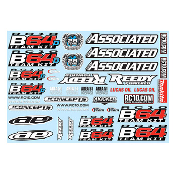 Team Associated B64 Decal Sheet picture