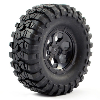 FTX Outback Pre-Mounted 6hex/Tyre (2) - Black picture