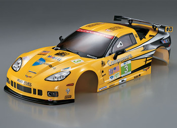 Killerbody Corvette GT2 190MM Yellow Finished Body picture