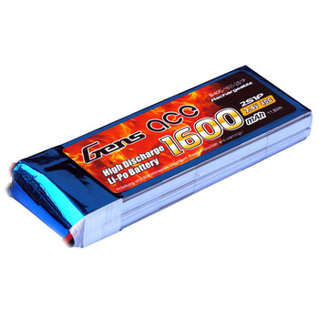 Gens Ace 1600Mah 7.4V 40C 2S1P LiPo Battery Pack picture
