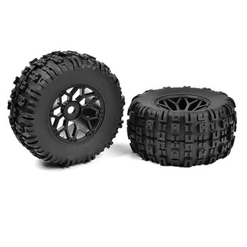 Corally Off-Road 1/8 Mt Tires Mud Claws Glued On Black Rims picture
