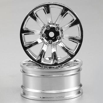 Killerbody Wheel 3MM Offset Chrome 10-Spoke 1/10 TC (4) picture