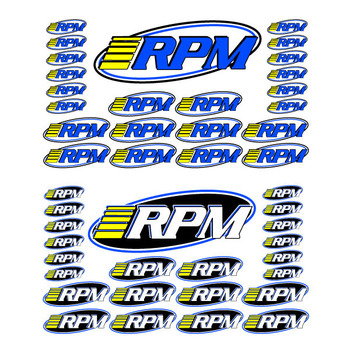 Rpm Pro Logo Decal Sheets 46 Indvidual Logo Decals picture