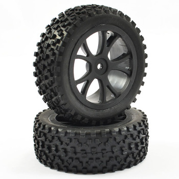 Fastrax 1/10th Mounted Cuboid Buggy Front Tyres 10-Spoke picture