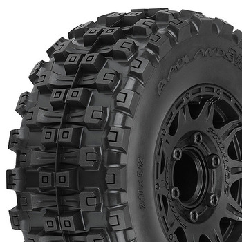 """Pro-Line Badlands Mx28 Hp 2.8"""" Belted Tyres On Blk 6X30 Hex picture"""