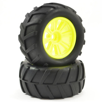 FTX Comet Monster Front Mounted Tyre & Wheel Yellow picture