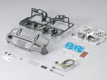 Killerbody 1/10th Alloy Bumper W/Led Upgrade Sets Silver/Grey picture