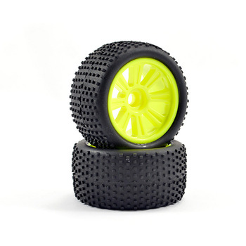 FTX Comet Truggy Front Mounted Tyre & Wheel Yellow picture