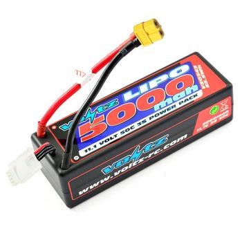 Voltz 5000Mah Hard Case 11.1V 50C LiPo Stick Pack Xt60 picture