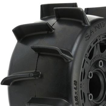"""Pro-Line Sand Paw Lp 2.8"""" Sand Blk Raid 6X30 Rem. Hex Wheels picture"""