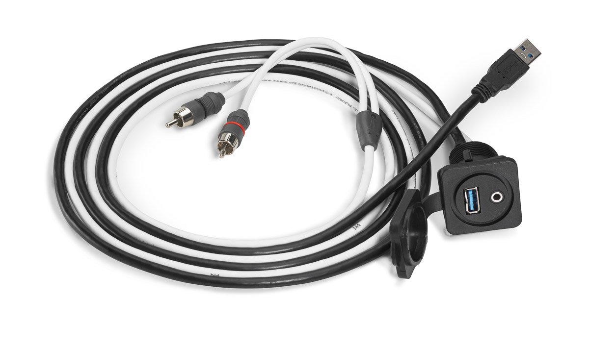 xmd-usb/3 5mm-pnl: combo 3 5 mm audio jack and 9 wire usb port for  panel-mounting