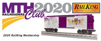 2020 MTHRRC RailKing O Gauge Club Membership picture