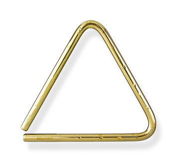 """Bronze Hammered Lite Triangle - 6"""" picture"""