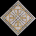 "Arcos Medallion 7 1/2"" Porcelain"
