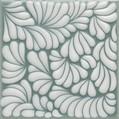 "Plumeada Aqua 5 3/4"" Porcelain"