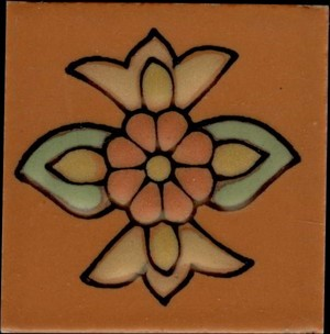 "Santa Rosa Terra Cotta A 2"" Porcelain picture"