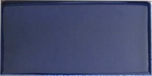 "Cobalt -  2 7/8"" x 5 3/4"" Long Side Single Bullnose Porcelain picture"