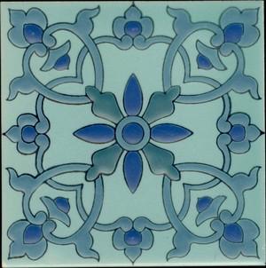 "Samara Aqua 3 3/4"" Porcelain picture"