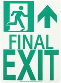 #7550 Glo Brite® Rigid Egress Exit Sign 8in x 11in
