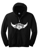 Jessup Adult Full Zip Hoodie - Black Large