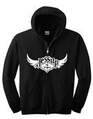 Jessup Adult Full Zip Hoodie - Black XXL