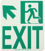 #7550 Glo Brite® Rigid Egress Exit Sign 8in x 9in