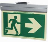7231-R-A-2-ACR-B P50, 2FC, Single Sided, Right Arrow, Acr w/Brkt, Green Running Man Egress Sign