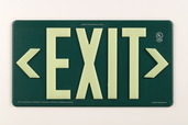 PM100 Green, Double Sided, Indoor/Outdoor & Wet Location Exit Sign, 100ft Viewing Distance, 7082-B