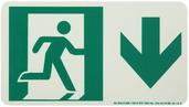 #7550 Glo Brite® Rigid Egress Exit Sign 4.5in x 8in  50R-1SN-D