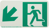 #7550 Glo Brite® Rigid Egress Exit Sign 4.5in x 8in