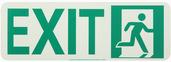 #7550 Glo Brite® Rigid Egress Exit Sign 4.5in x 13in