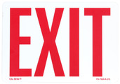 Glo Brite® Rigid Exit Sign 7in x 10in Photoluminescent/Red # FS-7520-R-215