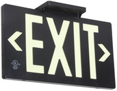 PF100 (7060-100-B) UL & LED Listed, Zero Maintenance, 100ft Viewing Distance Exit Sign