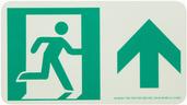#7550 Glo Brite® Rigid Egress Exit Sign 4.5in x 8in 50R-1SN-F