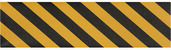 Jessup Griptape® Colors Sheet 9in x 33in Yellow/Black Stripe 20/cs