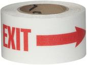 #4215-0158 Flex Track® Non-Slip Vinyl Roll 3in x 54ft White/Red 4/case