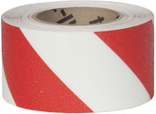#4215-0160 Flex Track® Non-Slip Vinyl Roll 3in x 54ft White/Red 4/case