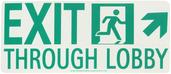 #7550 Glo Brite® Rigid Egress Exit Sign 7in x 16in