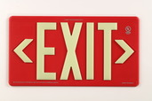 PM100 Red, Single Sided, Indoor/Outdoor & Wet Location Exit Sign, 100ft Viewing Distance, 7070-B