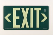 PM100 Green, Single Sided, Indoor/Outdoor & Wet Location Exit Sign, 100ft Viewing Distance, 7080-B