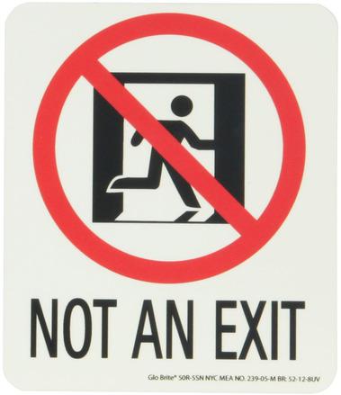 #7550 Glo Brite® Rigid Egress Exit Sign 5.5in x 6.5in picture