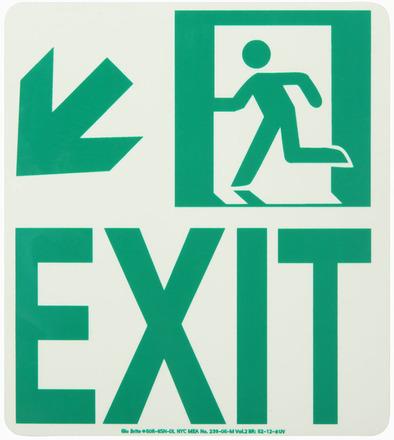#7550 Glo Brite® Rigid Egress Exit Sign 8in x 9in picture