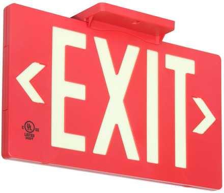 PF100 (7052-100-B) UL & LED Listed, Zero Maintenance, 100ft Viewing Distance, Double Sided Exit Sign picture
