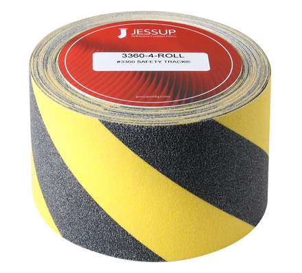 #3360 Safety Track® Non-Slip Grit Roll 4in x 60ft Black/Yellow picture