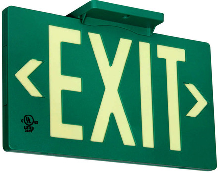 PF100 (7040-100-B) UL 924 Listed & LED listed, Zero Maintenance, 100ft Viewing Distance Exit Sign picture